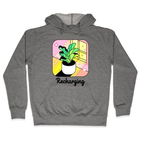Recharging Plant Hooded Sweatshirt