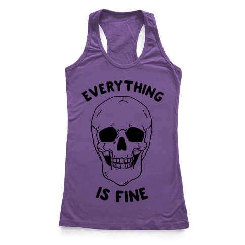 Everything Is Fine (cmyk) Racerback Tank Top