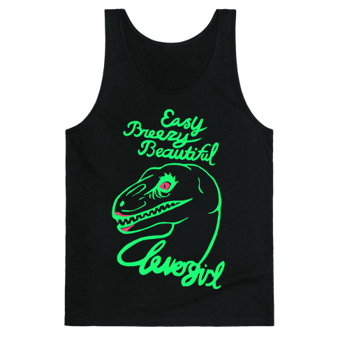 Easy Breezy Beautiful, Clever Girl Velociraptor Tank Top