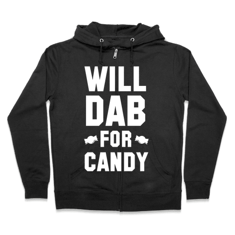 Will Dab for Candy (White) Zip Hoodie