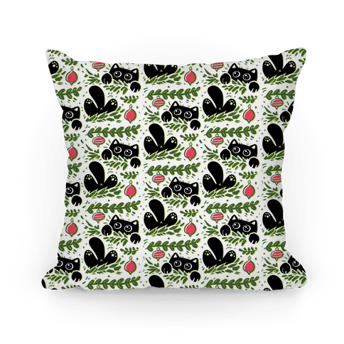 Cat In Christmas Tree Pattern Pillow