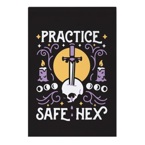 Practice Safe Hex Garden Flag