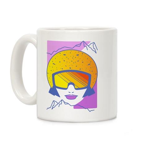 Retro Snowboarding Helmet Coffee Mug
