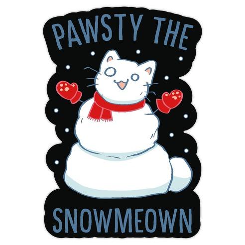 Pawsty The Snowmeown Die Cut Sticker