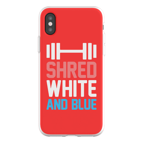 Shred White And Blue Phone Flexi-Case