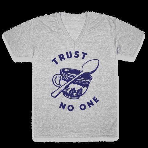 Trust No One V-Neck Tee Shirt