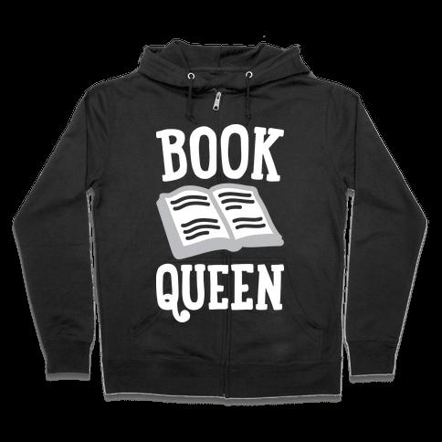 Book Queen Zip Hoodie