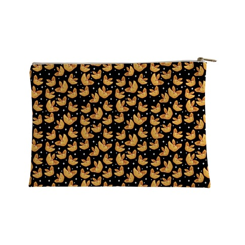 Crab Rangoons Pattern Black Accessory Bag