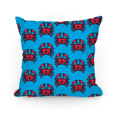 Crabs with Abs Pattern Pillow