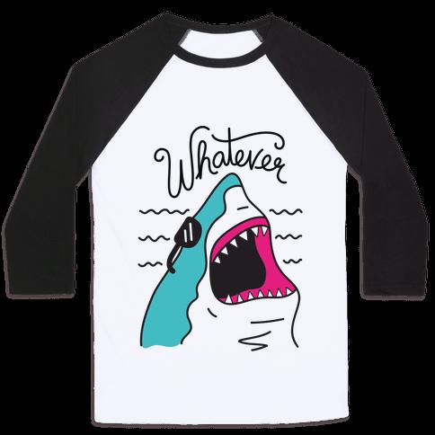 Whatever Shark Baseball Tee