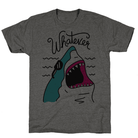 Whatever Shark Mens T-Shirt