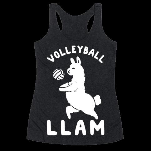Volleyball Llam Racerback Tank Top