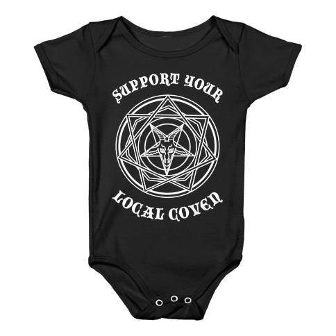 Support Your Local Coven Baby Onesy