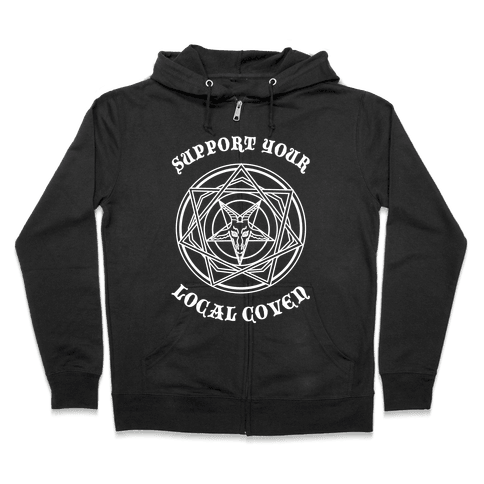 Support Your Local Coven Zip Hoodie