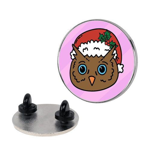 Cute Santa Owl Pattern pin