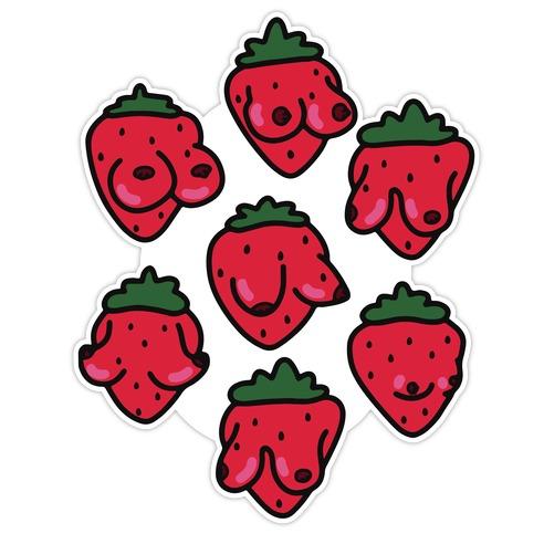 Strawboobie Die Cut Sticker