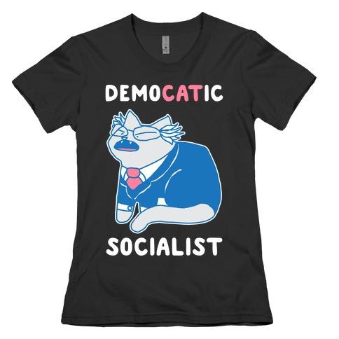 DemoCATic Socialist Womens T-Shirt