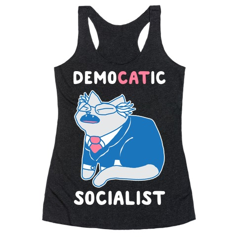 DemoCATic Socialist Racerback Tank Top