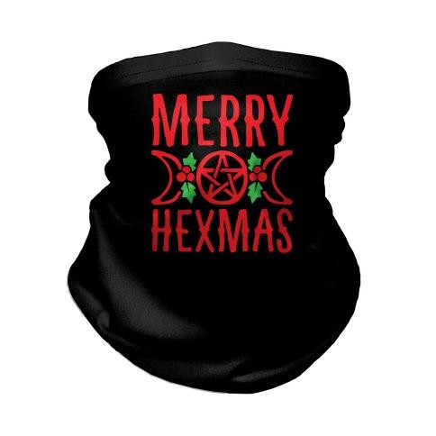 Merry Hexmas Parody Neck Gaiter