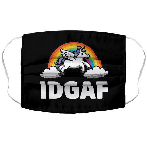 IDGAF (Unicorn) Face Mask