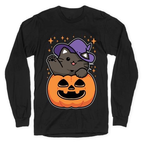 Cute Halloween Cat Long Sleeve T-Shirt