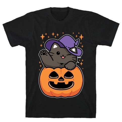 Cute Halloween Cat T-Shirt
