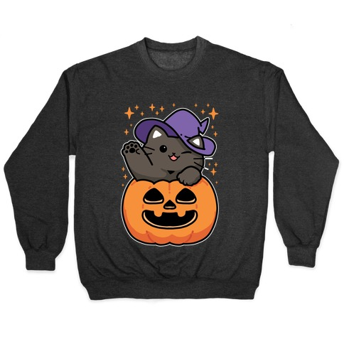 Cute Halloween Cat Pullover