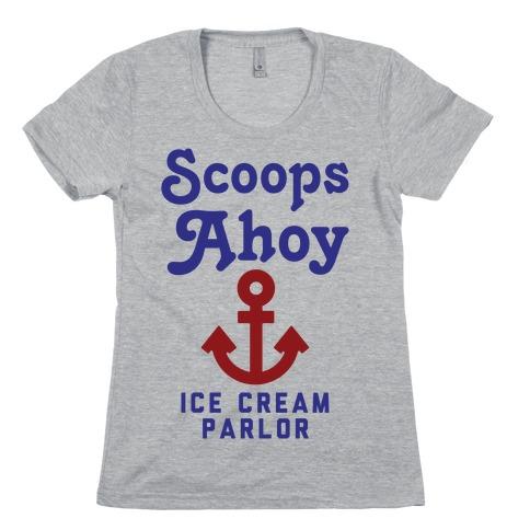 Scoops Ahoy Logo Parody Womens T-Shirt