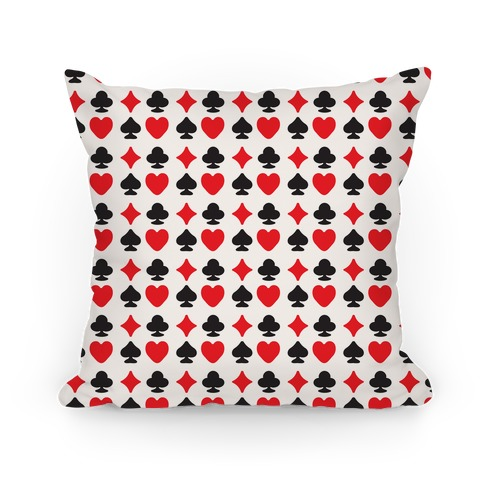 Card Deck Symbols Pattern Pillow