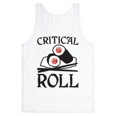 Critical Roll Sushi DnD Tank Top