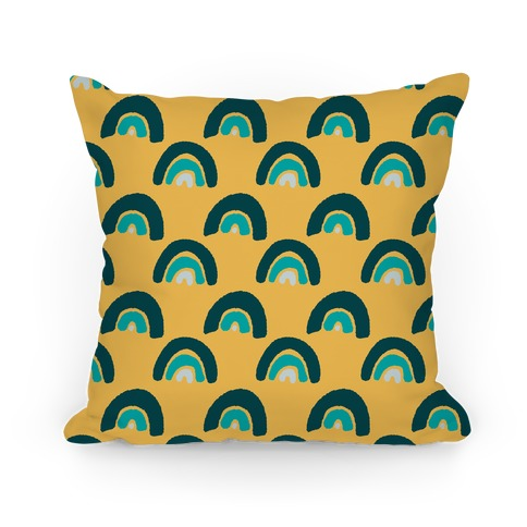 Rainbow Boho Pattern Jewel Tones Pillow