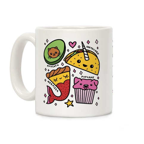 Cute Food Mashups Coffee Mug