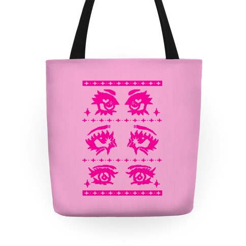 Anime Eyes Ugly Sweater Tote