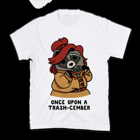 Once Upon a Trash-Cember Raccoon Anastasia  Kids T-Shirt