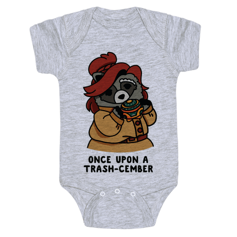 Once Upon a Trash-Cember Raccoon Anastasia  Baby Onesy