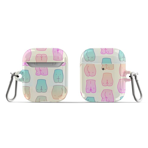 Kawaii Pastel Butt Pattern AirPod Case