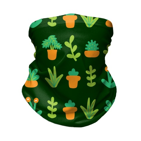 Graphic Plants Pattern Neck Gaiter