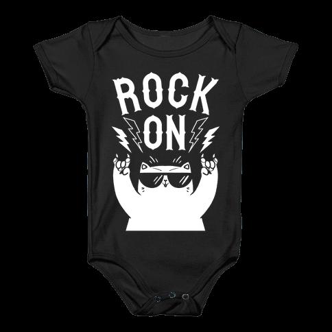 Rock On Cat Baby Onesy