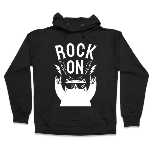 Rock On Cat Hooded Sweatshirt