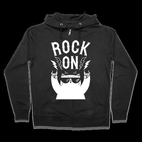 Rock On Cat Zip Hoodie