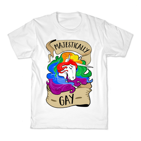 Majestically Gay Kids T-Shirt