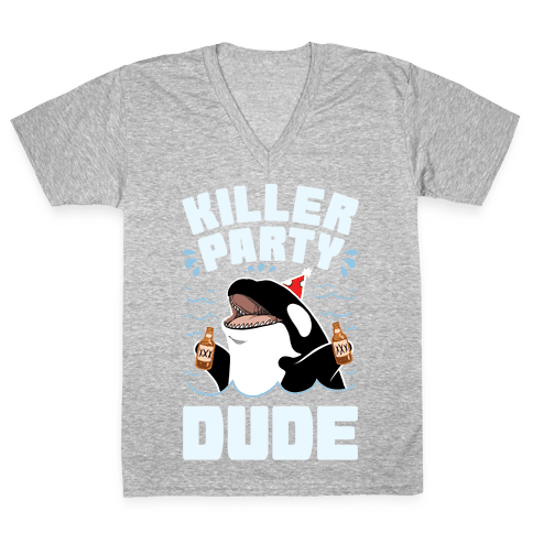 Killer Party Dude V-Neck Tee Shirt