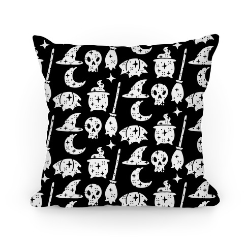 Sparkle Witch Pattern Pillow