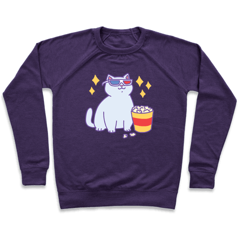 Fat Cat With Popcorn Pullover