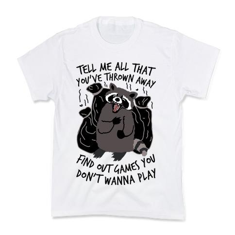 Dirty Little Secret Emo Raccoon Kids T-Shirt