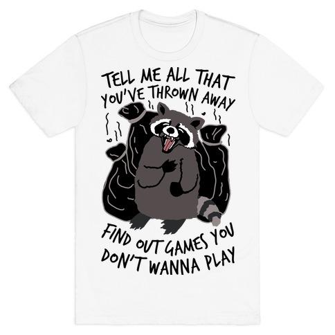 Dirty Little Secret Emo Raccoon T-Shirt