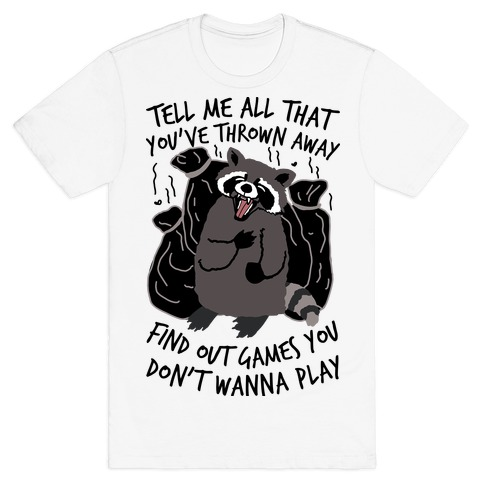 Dirty Little Secret Emo Raccoon T-Shirt