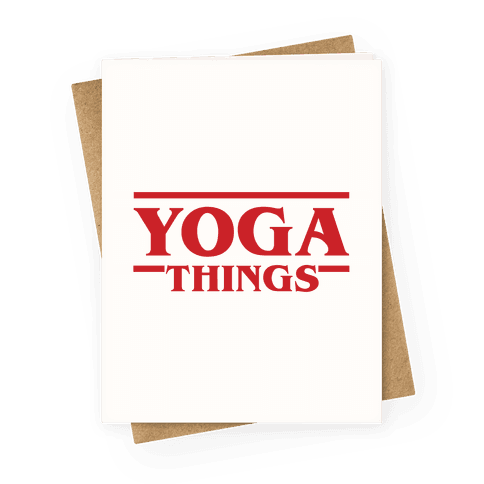 Yoga Things Greeting Card