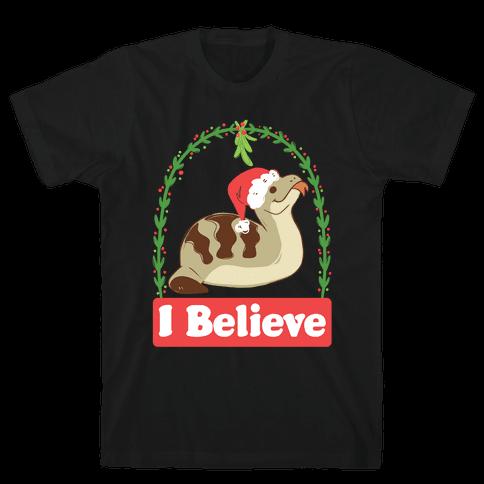 I Believe in the Christmas Tsuchinoko Mens T-Shirt