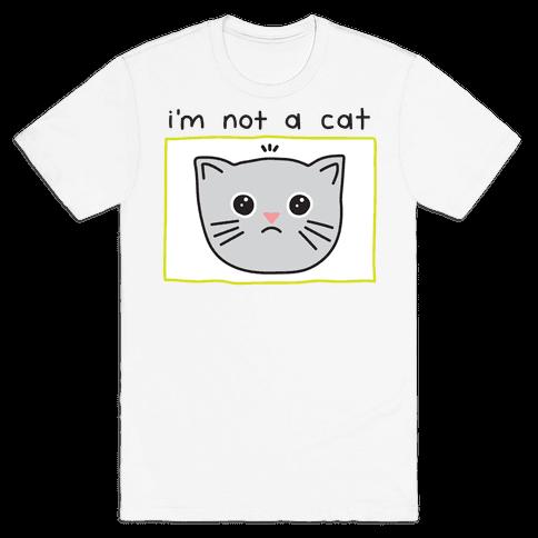 I'm Not A Cat Zoom Filter Mens/Unisex T-Shirt